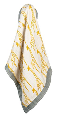 Milkbarn Bamboo and Cotton Mini Lovey Baby Blanket - Yellow