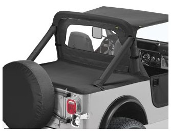 Bestop 90003-01 Black Crush Duster Deck Cover for 1980-1991 CJ7//Wrangler with Supertop Bows Folded Down