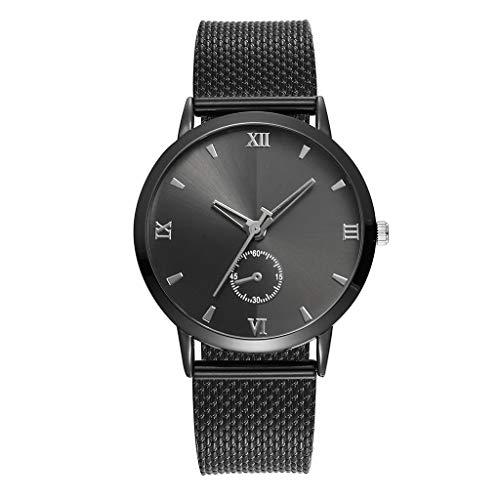 Garish❤️❤️Women's Casual Wrist Watch Quartz Watch,Alloy Band Starry Sky Analog Watch,Best Gift Watches for Women Black ()