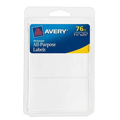 (Avery All-Purpose Labels, 1.5 x 2.75 Inches, White, Pack of 76)