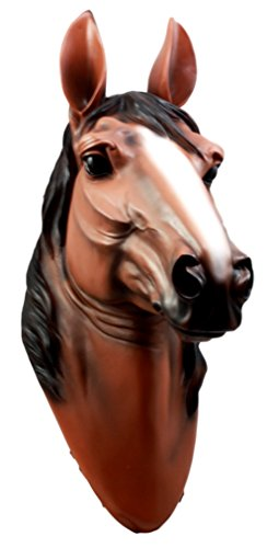 Atlantic Collectibles Large Equine Beauty Chestnut Horse Head Wall Decor Plaque 16