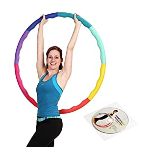 Weight Loss Sports Hoop Series: Acu Hoop 3L - 3.3lb (41 inches wide) Large, Weighted Fitness Exercise Hula Hoop
