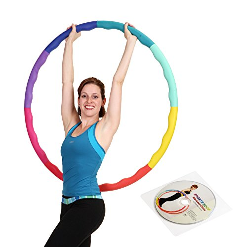 Weight Loss Sports Hoop Series: Acu Hoop 3L - 3.3lb (41 inches wide) Large, Weighted Fitness Exercise Hula Hoop (40 minutes Workout and Lesson DVD Included) (Weighted For Hula Hoop Adults)