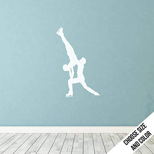 CELYCASY Pairs Figure Skating Handstand Wall Decal - Vinyl Sticker - Olympics -