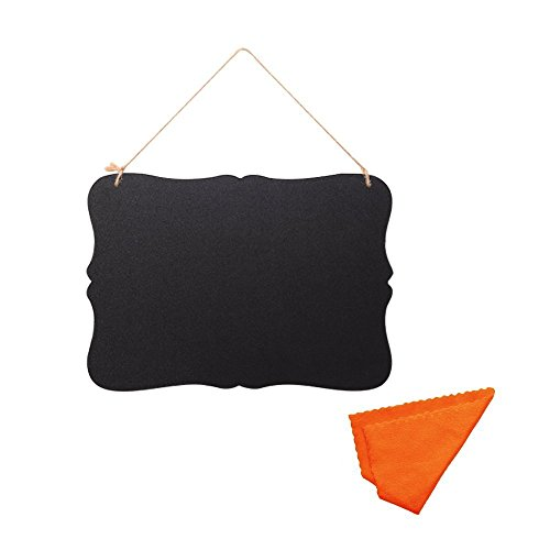 Mudder Double Sided Vintage Style Chalkboard BlackBoard with Hanging String and Cleaning Cloth