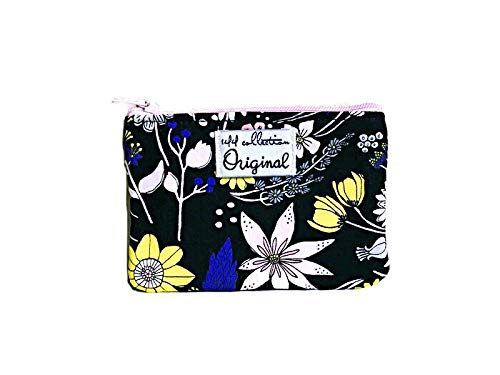 Floral Coin Purse, Change Purse, Coin Wallet for Women, Black Coin Purse by 144 Collection
