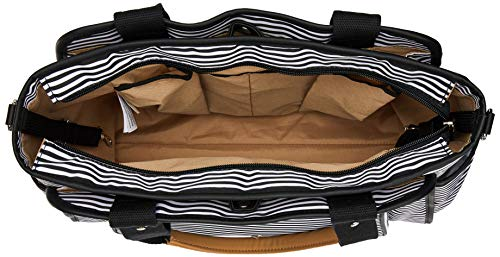 Skip Hop Diaper Bag Tote with Matching Changing Pad, Grand Central, Black & White Stripe by Skip Hop (Image #5)