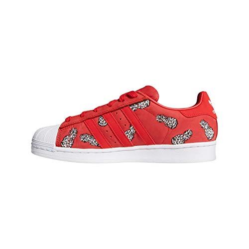 Adidas Rojo 0 scarlet White footwear Mujer W scarlet Superstar Zapatillas Para rwXrqv
