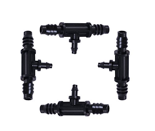 Mini Skater Mns 8 11 4 7 Bt Drip Irrigation Watering Tubing Hose Pipe Distribution Or Connectors Fittings For Patio Lawn Garden And Agricultural 8 11 To 4 7 Hose Barb Tee Connector Black 4Pcs