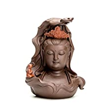 Creative Purple Sand Guanyin Ceramic Zen House Decoration Ornaments Home Porch Decoration Decoration Buddha Figures