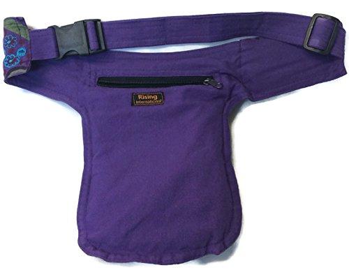 Boho Fanny Waist Pack Money Belt Purple Multi-Color Hip Bag Travel Bum Drop Leg Pouch Cotton NEPAL by Rising International (Image #1)