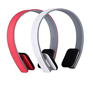 Wireless Sports Bluetooth Headset, Subwoofer Headset – White (red)
