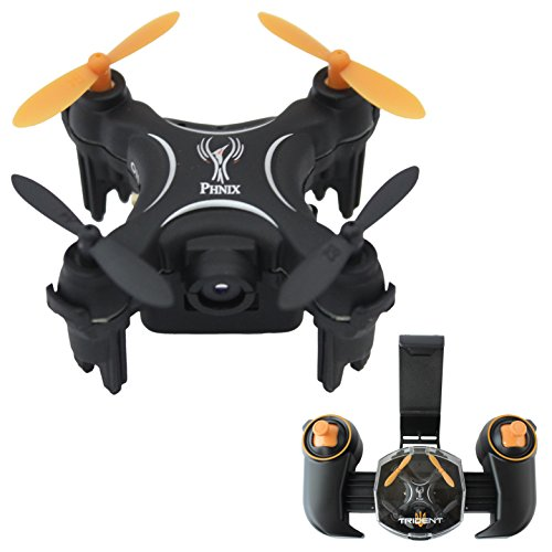 Toy Drone Nano Quadcopter | 2MP HD Drone Camera | Selfie Mode | 2.4GHz Drone for Kids | 6 axis-Gyro | Altitude Hold Function | Headless Mode | Autonomous Path Following Mode | Black PHNIX Trident RC