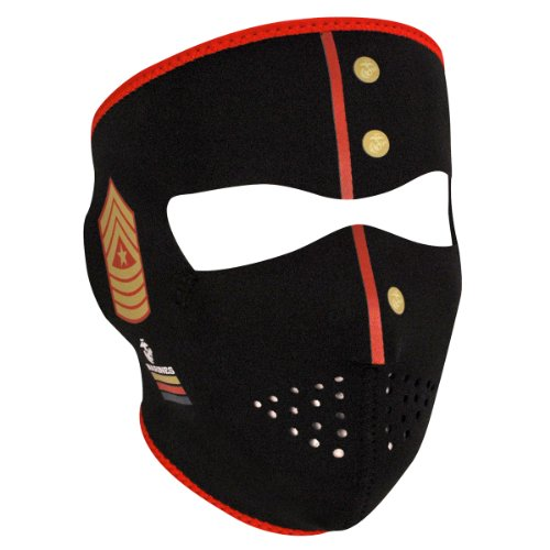 Graphic Face Mask Motorcycle (United States Marine Corp Neoprene Face Mask - One Size)