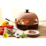 Pizzarette ? ?The World?s Funnest Pizza Oven? ? 6 Person Model with True Cooking Stone ? Countertop Pizza Oven ? Europe?s Best-Selling Tabletop Mini Pizza Oven Now Available In The USA