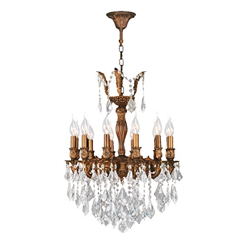 Worldwide Lighting Versailles Collection 12 Light French Gold Finish and Clear Crystal Chandelier 20