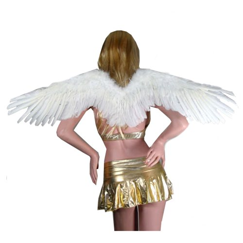 Sexy Chicken Costumes (SACAS Large Feather Fairy Angel Wings in White)