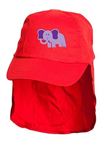 Pour Enfant Rouge éléphant style Légionnaire Sun Bonnet. Taille unique.