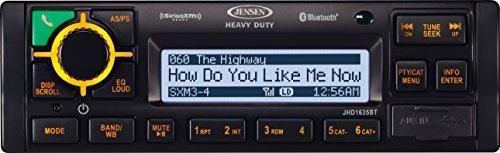 (JENSEN JHD1635BT Heavy Duty AM/FM/RBDS/WB/USB/AUX-IN/BT/iPod & iPhone ready/Sirius XM Ready Bluetooth Stereo Radio, 12V DC)