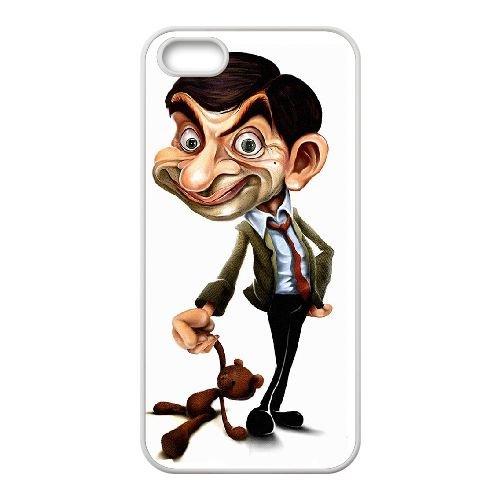Mr Bean 002 coque iPhone 4 4S Housse Blanc téléphone portable couverture de cas coque EOKXLKNBC23925