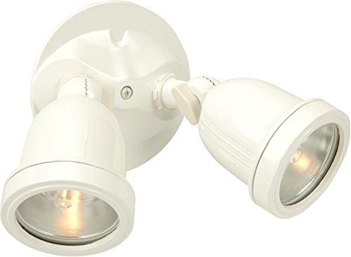 Halophane 3 Light - Craftmade Z412-4 Outdoor Directional Light with Halophane Lens Shades, White Finish