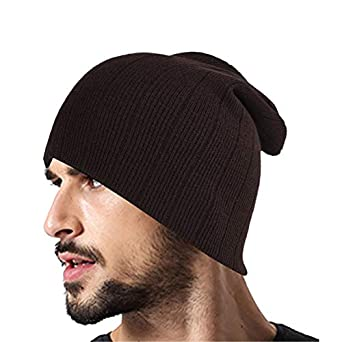 8e64a9831a7efa DRUNKEN Unisex Winter caps for Men and Winter Cap for Women Ribbed Knitt  Woollen Brown Beanie Cap: Amazon.in: Clothing & Accessories