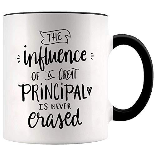 YouNique Designs School Principal Mug, 11 Ounces, Principal Appreciation Gifts (Black Handle)