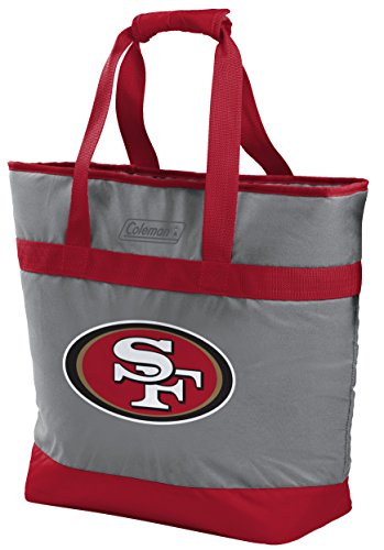 (Coleman NFL Soft-Side Insulated Large Tote Cooler Bag, 30-Can Capacity, San Francisco 49ers)