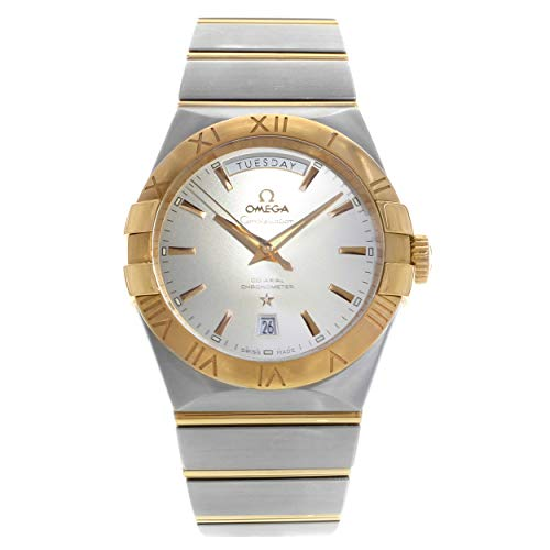 - Omega Constellation Chronometer Silver Dial Rose-Gold and Steel Mens Watch 12320382202001