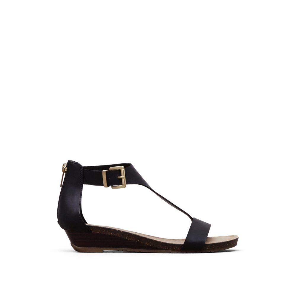 Kenneth Cole REACTION Women's Great Gal Wedge Sandal, Black, 7 M US