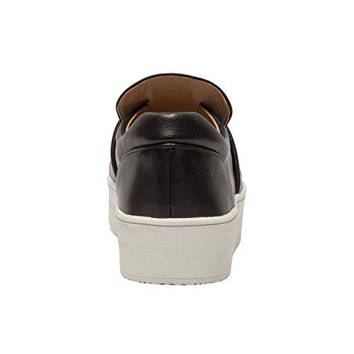 Linea Paolo Val | Sneaker Con Plateau In Pelle Impreziosita Da Donna Con Fibbia In Perla (nuova Primavera) In Pelle Nera
