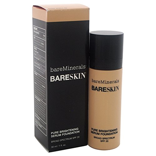 BareMinerals bareSkin Liquid Foundation and Pure Brightening Serum, SPF 20, Bare Shell 02, 1 Ounce