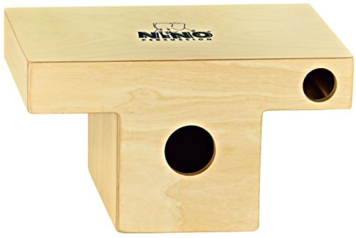 Nino Percussion Kids' Slaptop Cajon Box Drum with Internal Snares and Forward Projecting Sound Port - NOT MADE IN CHINA - Walnut Playing Surface, 2-YEAR WARRANTY, inch (NINO953)