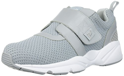 (Propet Men's Stability X Strap Sneaker, Light Grey, 14 Wide US )