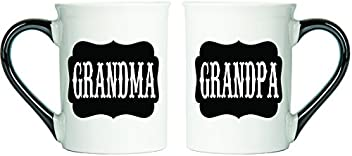 Tumbleweed - Grandma Grandpa Coffee Mugs - Set Of Two Large 18 Ounce Coffee Cups - Black Label Mugs - Grandparent Gifts