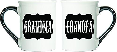 Grandma And Grandpa Coffee Mugs, Set Of Two Large 18 Ounce Coffee Cups, Grandpa And Grandma Gifts By Tumbleweed