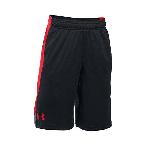 Under Armour Boys' Eliminator Shorts, Black/Red, Youth Medium