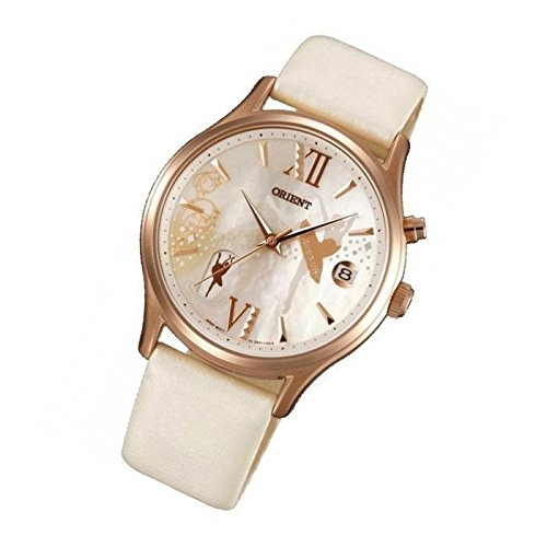 Orient Reloj bailarina mujer reloj Happy Stream Fecha Cuero Automático Reloj fdm01 002 W