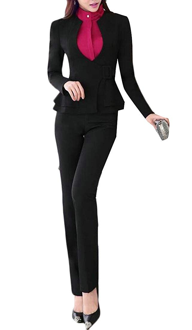 C&H Womens Slim Fit Long-Sleeve Business Blazer Coat Jacket