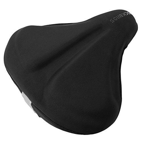 RockBros Bike Seat Cover Wide Exercise Bicycle Saddle Cushion For Men Women Comfortable Gel Soft Pad Saddle Cover Fits Mountain Cruiser Stationary Bikes Indoor Cycling by RockBros