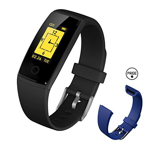 Fitness Tracker Watch,Fitness Tracker With Heart Rate Monitor,DIGI-YOUNG Activity Tracker Smart Band With Blood Pressure,Colorful Screen,Step Counter,Sleep Monitor,GPS Tracker,Smart Bracelet (style 1)