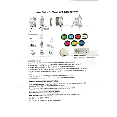 ELING Universal Digital GPS Speedometer Odometer Adjustable for Auto Marine with GPS Antenna 7 Back-Lights 85mm: Automotive