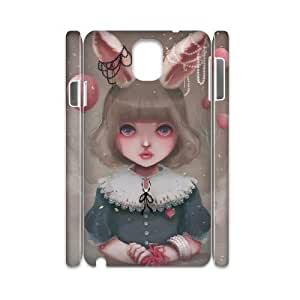 3D Dustin Juliette, Balloons & Pearls Samsung Galaxy Note 3 Cases, [White]