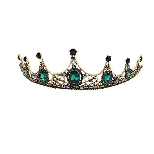 70ILY Royal Women Greeb Terdrop Tiara Elegant Evening Party Hair Creown Bridal Wedding Hair Accessories (Evening Shimmer Jewelry)