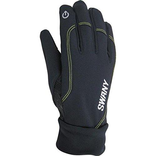 Swany Men's Snowboard Ski Glove Techno II Black Large -