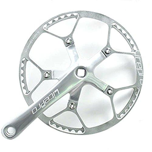 [해외] JNP 45T 47T 53T 56T 58T 항공 알루미늄초 경량 접이식 자전거 크랭크 세트 크랭크 길이:170mm