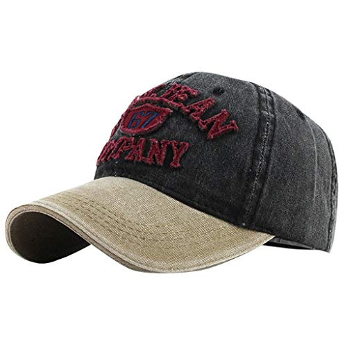 Super Bally Unisex Cotton Casual Embroidered Denim Letter Hat Baseball Cap Topee
