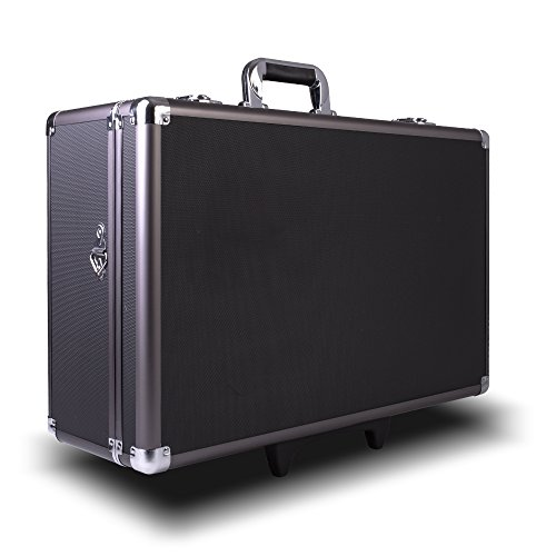 Zeikos ZE-HC52 Large Rolling Hard Case With Extra Padding Foam For Cameras - Travel, and Storage Case Camera, Gear, Equipment, and Lenses - Canon, Nikon, Sony Alpha, and Many More DSLR Cameras (Case Hard Rolling)