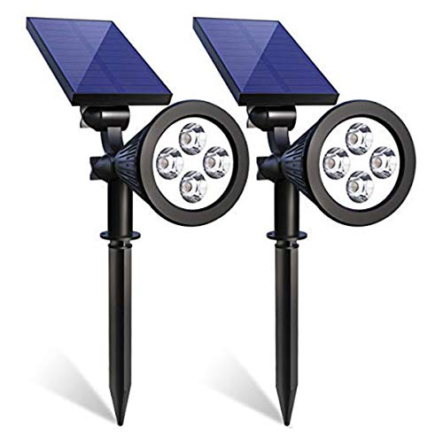 Solar Spotlights, Iextreme 4 LED Waterproof Solar Spotlight 180