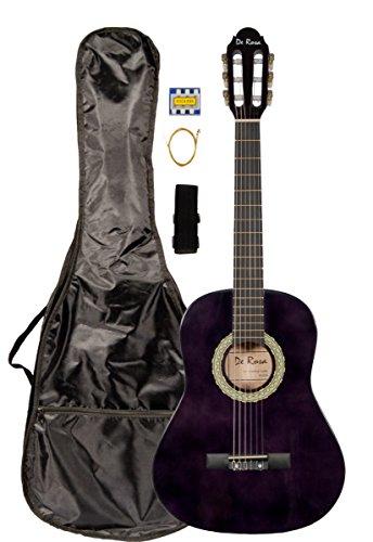 36 INCH DeRosa DKF36 Kid's PURPLE 3/4 Classical Nylon String Guitar great for beginners by De Rosa